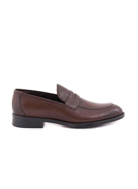 Kemal Tanca %100 Deri Loafer Ayakkabı Kahve